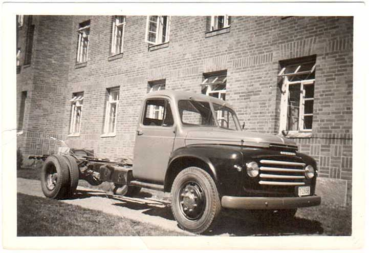 KPictured new truck, still without a bed, probably just picked from the salesman. Exact year not known.